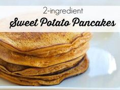 Just 2 ingredients in these amazing sweet potato pancakes - mashed sweet potato and eggs, with spices of your choice and you will have a great healthy breakfast that is a low-carb, grain-free pancake alternative! Sweet Potato Recipes, Baby Food Recipes, Paleo Recipes, Cooking Recipes, Healthy Cooking, Healthy Snacks, Baked Oatmeal Muffins, 2 Ingredient Recipes, Sweet Potato Pancakes