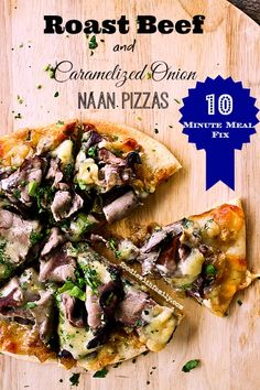 Roast Beef Caramelized Onion Naan Pizzas 10 Minute Meal Fix from foodiewithfamily.com