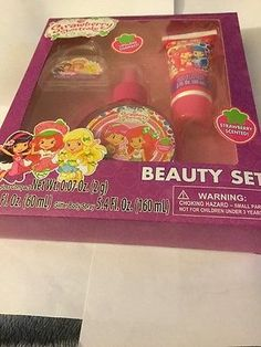 Strawberry Shortcake Beauty Gift Set Glitter Body Spray Lip Gloss & Lotion