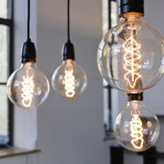 We asked celebrity designer Chris Stout-Hazard to share what you need to know about LED Edison light bulbs. Edison Lighting, Home Lighting, Edison Bulbs, Overhead Lighting, Bathroom Lighting, Cheap Lighting, Funky Lighting, Deco Luminaire, Decorating On A Budget
