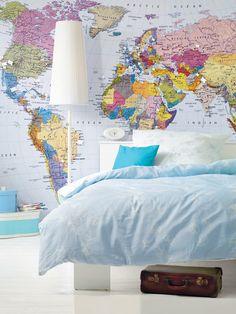 Deko-Ideen mit Landkarten und Globus - Die Welt Zuhause