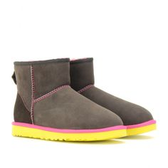 its about time ugg spiced it up a bit... check out these neon yellow with hot pink uggies.