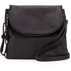 Charles Jourdan Wilson Snake-Embossed Leather Crossbody Bag ($138) ❤ liked on Polyvore