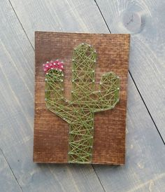 nice Made to Order String Art Cactus Sign
