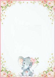 34 ideas baby shower elefante invitaciones Source by . Tarjetas Baby Shower Niña, Baby Shower Invitaciones, Baby Girl Invitations, Baby Shower Invitation Templates, Baby Shower Templates, Elephant Baby Showers, Baby Elephant, Baby Girl Cards, Elephant Theme
