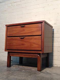 Mid-Century Modern 2-Drawer Nightstand / by modernmidcenturyfurn