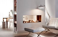 modern architecture - fireplace - element4 - lucius 140 t gasfire