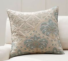 Zerrin Suzani Embroidered Pillow Cover   Pottery Barn