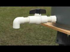 video on how to make rain barrels...need to make