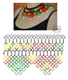 Do It Yourself With Beaded Jewelry Diy Necklace Patterns, Bead Loom Patterns, Beaded Jewelry Patterns, Beading Patterns, Bead Jewellery, Seed Bead Jewelry, Beaded Collar, Collar Necklace, Beaded Crafts
