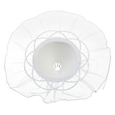 White Tulle Bouquet Holder - 11 in