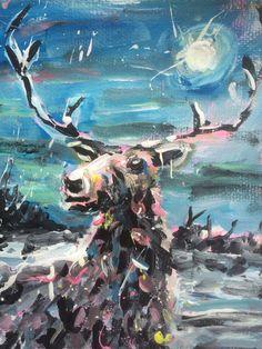 Moonlit Stag   DegreeArt.com The Original Online Art Gallery