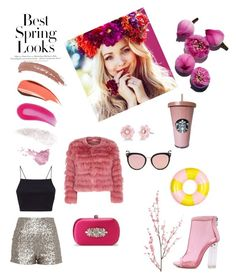 """""""Untitled #71"""" by emese-knolmar on Polyvore featuring H&M, Christian Louboutin, Bésame, Alice + Olivia, WithChic, Irene Neuwirth, Pier 1 Imports, Topshop, Badgley Mischka and ban.do"""