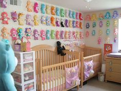 nursery for multiples | Then we moved and I didn't have space for them in our apartment ... ummmm...wow
