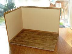 einfache Roombox zum fotografieren von Minis oder für saisonale Dekorationen