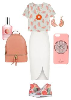 """""""grapefruits <3"""" by lovableln on Polyvore featuring River Island, Converse, The Body Shop, Kate Spade, Michael Kors and Charter Club"""