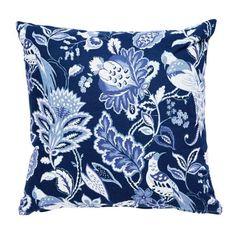 Blå Blommig Prydnadskudde - Hemtex