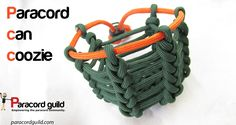 Paracord can coozie tutorial.