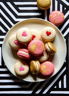 Valentine's White Chocolate Macarons via Bakers Royale