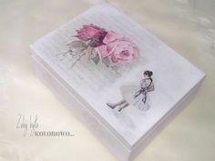 Żeby było kolorowo...: Skrzyneczka z różami i baletnicą