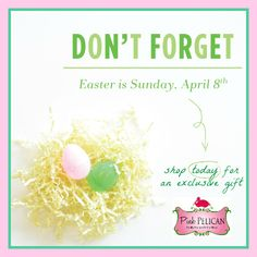Hop to it! Easter is a week away. From what to wear to gifts to share, The Pelican Girls have you covered!