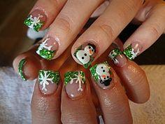 Snowmen Nails - Winter Christmas Nail Art