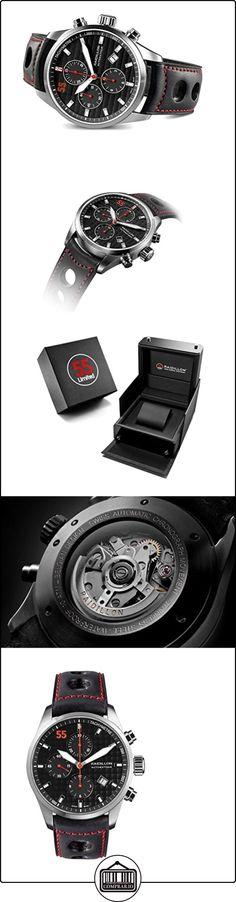 raidillon Casual Friday Reloj Automático para Hombre con cronógrafo y negro correa de piel 42-c10-147  ✿ Relojes para hombre - (Lujo) ✿