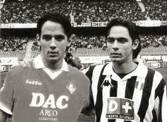 """Fratelli Inzaghi"": Simone, con el Piacenza, y Filippo, con la Juventus."