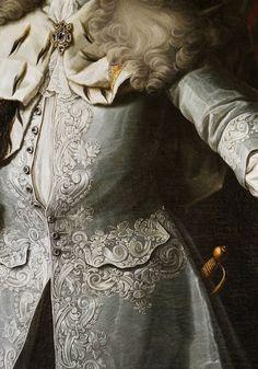 Georg Engelhardt Schröder. Detail from Portrait of Fredrik I, King of Sweden, 18th Century.