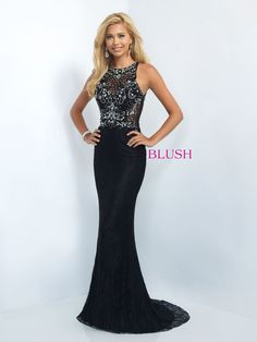 Jersey knit column sheath featuring a lace overlay bodice with jewel neckline and key hole back and it's at Rsvp Prom and Pageant, your source for the Hottest 2016 Prom and Pageant Dresses! Available