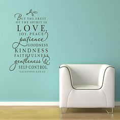 Scripture wall*Modern chair