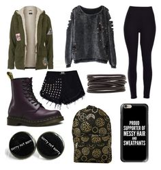 Outcast by cmankin on Polyvore featuring polyvore fashion style Topshop Dr. Martens Isabel Marant Casetify clothing
