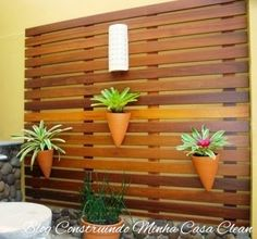 Construindo Minha Casa Clean: Deck de Madeira na Parede!!!
