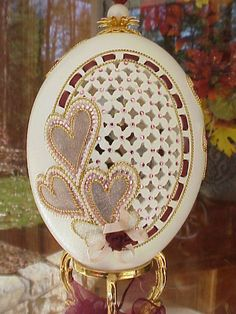 egg wedding cake topper details about real carved decorated rhea egg wedding cake 13943