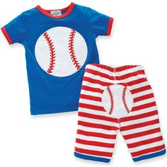 Baseball Baby 2PC Short Outfit