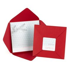 "Silver Beauty Christmas Card. A true beauty! With a glistening silver branch at the top and your personalization at the bottom, this non-folding card is a sight to behold. It's wrapped in a cranberry self-mailer and secured with a coordinating return address seal."". Price: $124.20"