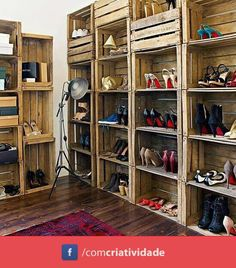 Armario con palets // Wardrobe with pallets