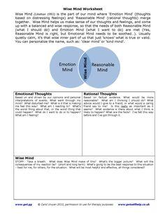 Printables Wise Mind Worksheet wise mind worksheet bloggakuten dbt bloggakuten