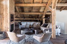 Maison HAND - Chalet montagne Mégève - Photos Felix Forest Architecture, Cosy, Decoration, Pierre Emmanuel, Dining Table, Living Room, Interior Design, Stephane, Chalets