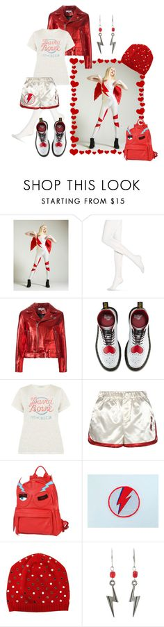"""""""Scary Monsters"""" by alexxa-b ❤ liked on Polyvore featuring Hue, IRO, Dr. Martens, Tommy Hilfiger, Chiara Ferragni, Ziggy, N°21, red, david and ScaryMonstersandSuperCreeps"""
