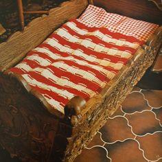 Vintage crochet blanket pattern, basket stitch   Happy in Red