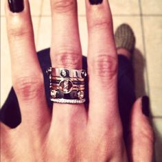 henri bendel ring stack, I have this and I love it! perfect blend of metals and always a conversation starter!