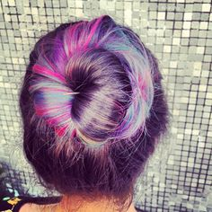 Hair purple
