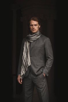 suit with scarf!