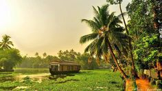 ♥ Serene Backwaters at ALLEPPEY, India