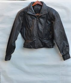 Motorcycle vintage leather jacket Byrnes Baker 80s cropped ladies  motorcycle jacket size x small punk rocker glam rock ce4cdba74