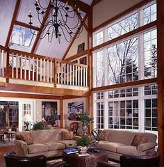 Barns Turned into Homes | two interior views of remodels by yankee barn homes)