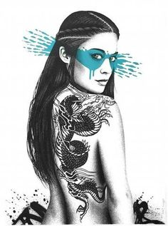 """Title: Senaka Poster artist: Fin Dac Edition: Limited edition """"AP"""" Artist Proof hand signed and numbered edition of 9! Year: 2016 Type: Limited edition hand pulled screen printed poster. Color splash"""