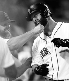 Mike Napoli  David Ross Boston Red Sox baseball...i volunteer as tribute to pull your beard also.
