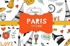 Paris patterns by Olillia on @creativemarket